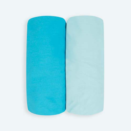 Blue KIDLY Home Cotton Fitted Sheets - 2 Pack