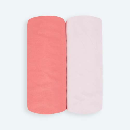 Pink KIDLY Home Cotton Fitted Sheets - 2 Pack