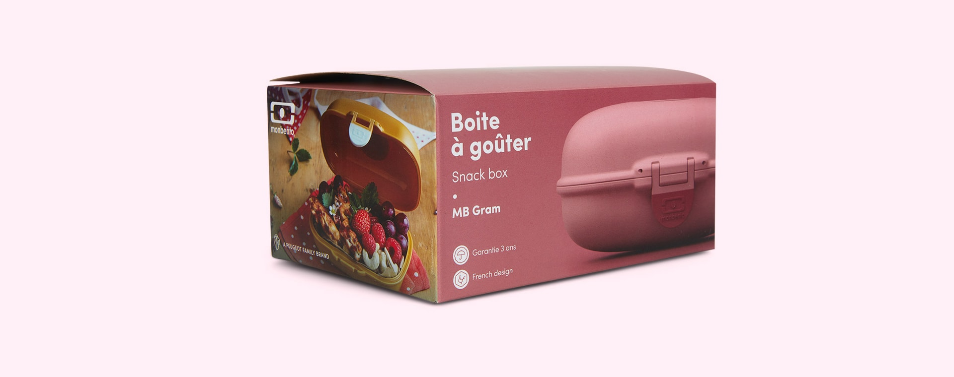 Pink Blush monbento Gram Snack Box