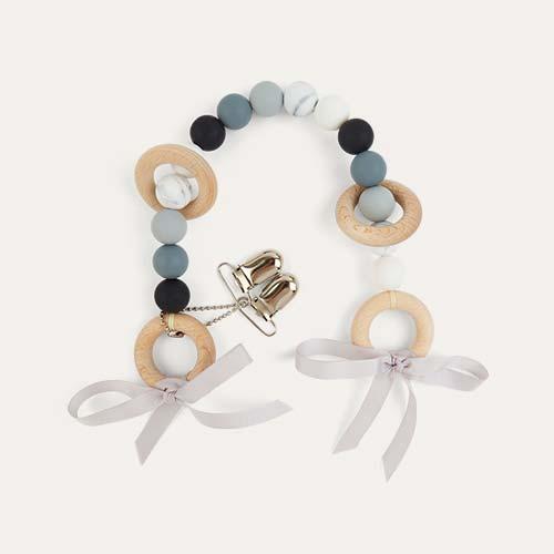 Monochrome Blossom & Bear Pram Garland
