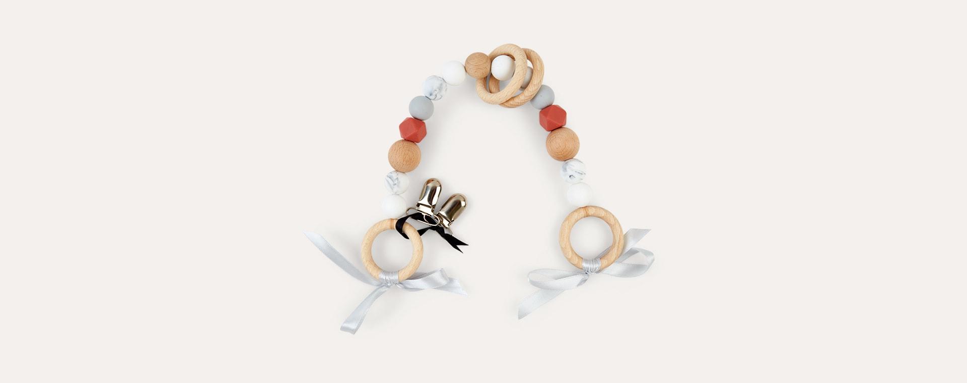 Rust Blossom & Bear Pram Garland