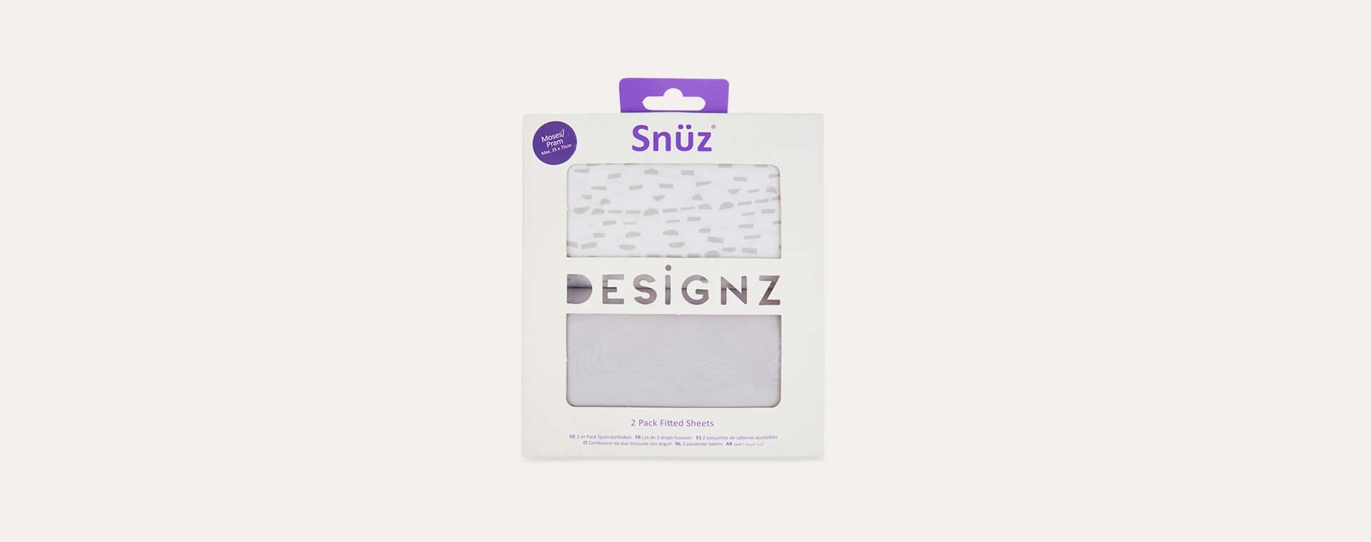 Mono Wave Snuz Fitted Sheet - 2 Pack