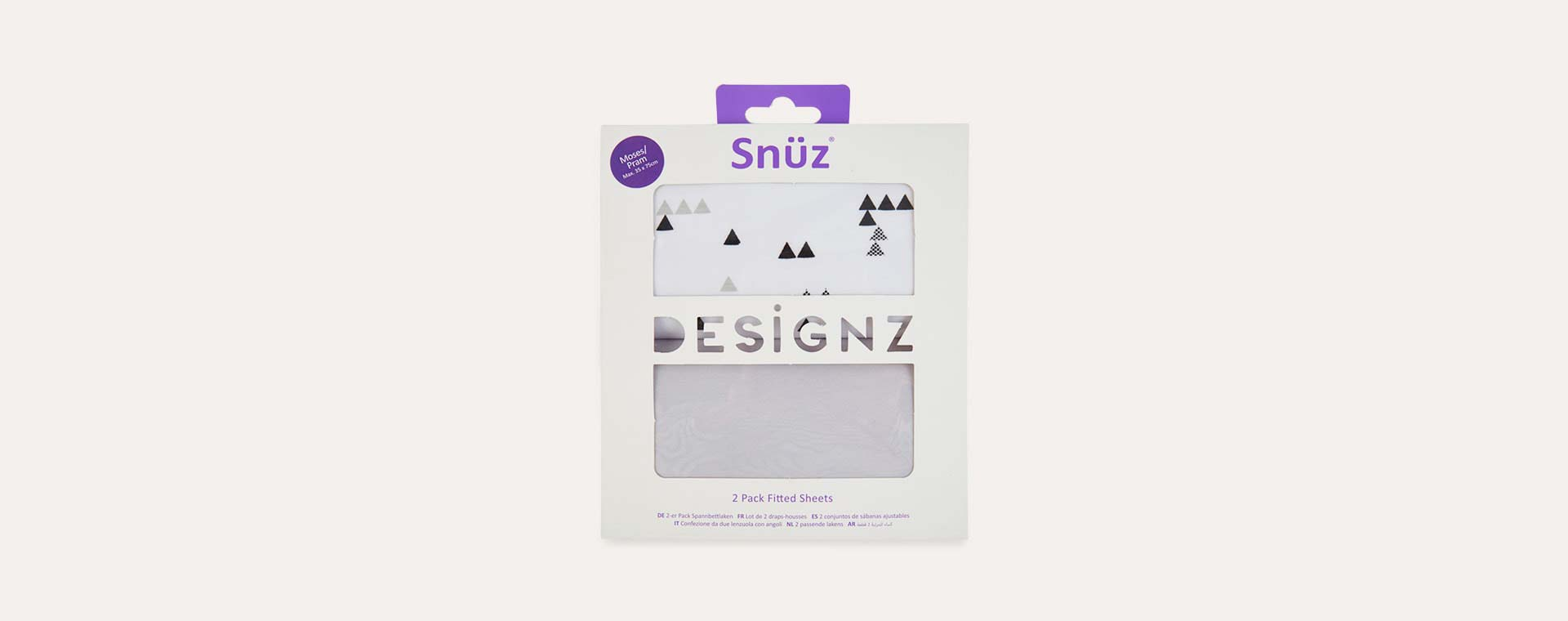 Mono Geo Snuz Fitted Sheet - 2 Pack