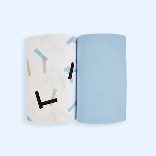 Breeze Geo Snuz Crib Fitted Sheets - 2 Pack