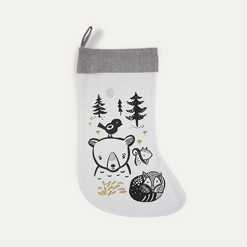 Bear and Freinds Wee Gallery Christmas Stocking