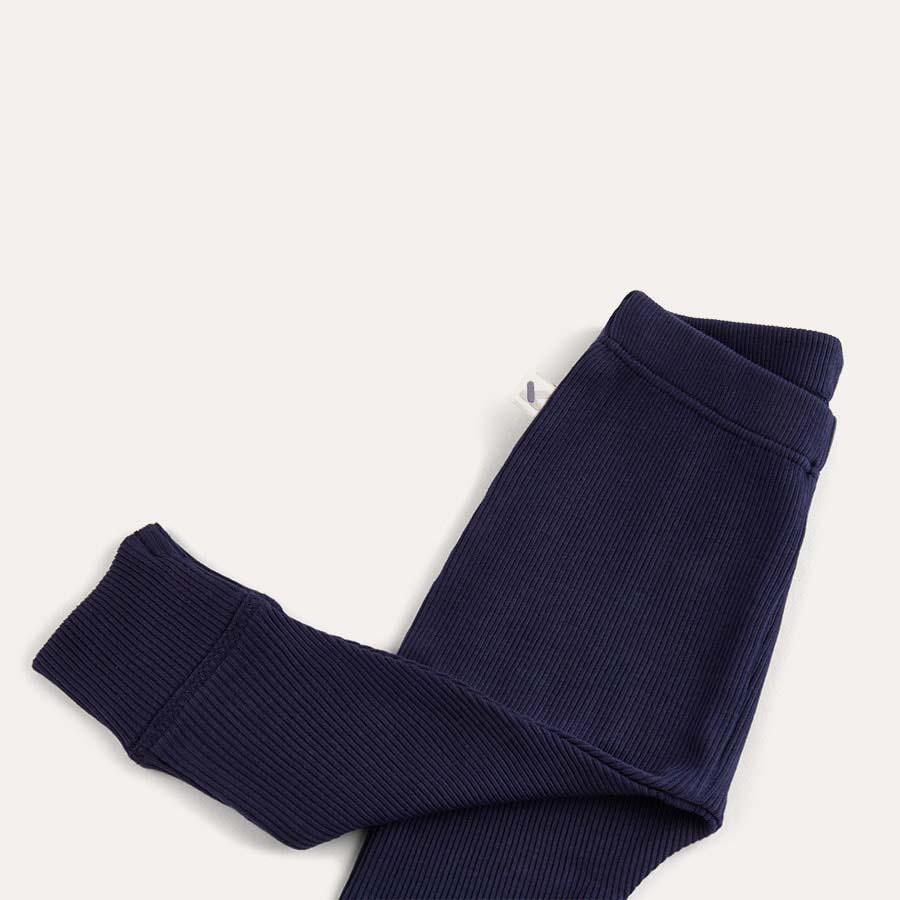 Navy KIDLY Label Legging