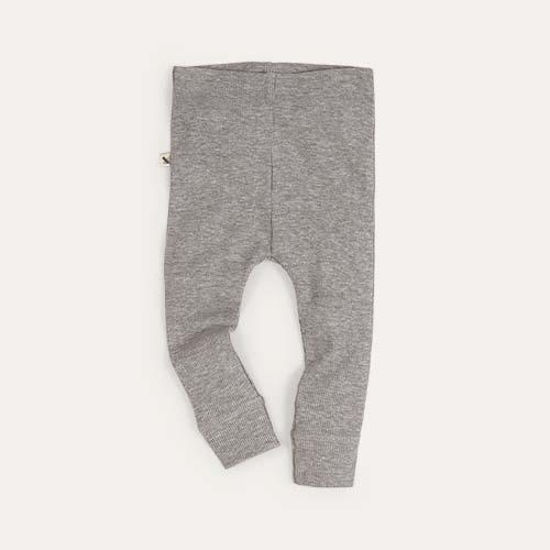 Grey Marl KIDLY Label Legging