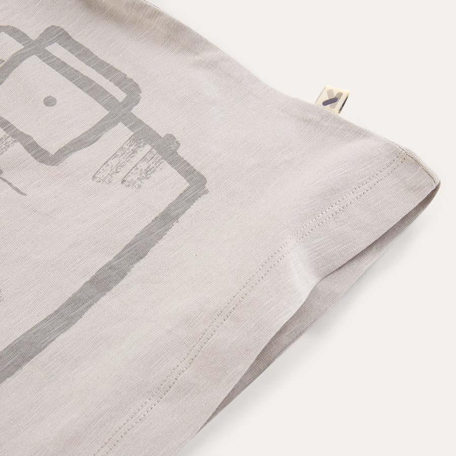 Grey KIDLY Label Printed Tee