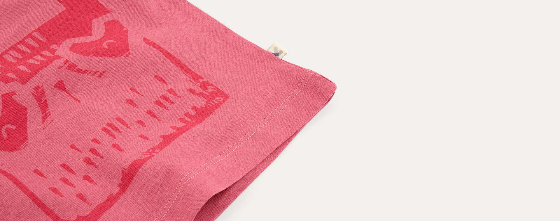 Pink KIDLY Label Printed Tee
