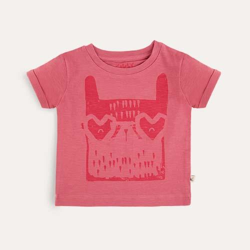 Pink 25% off KIDLY Label Printed Tee