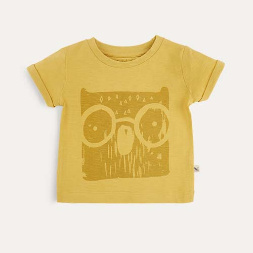 Yellow KIDLY Label Printed Tee