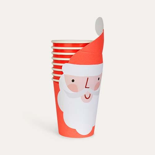 Red Meri Meri Santa Wrap Cups - 8 Pack