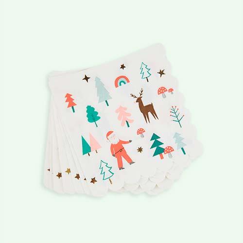 White Meri Meri Christmas Icons Napkins - 15 Pack