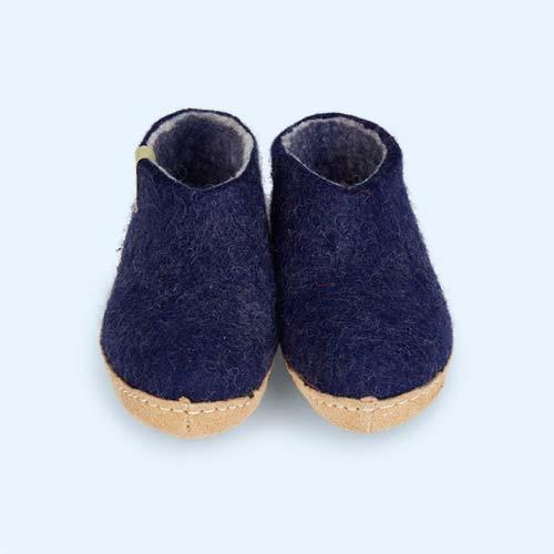 Blue Egos Copenhagen Classic Shoe Felt Slipper