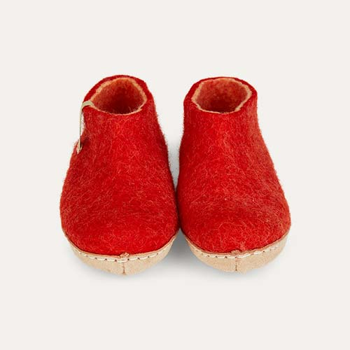 Rusty Red Egos Copenhagen Classic Shoe Felt Slipper