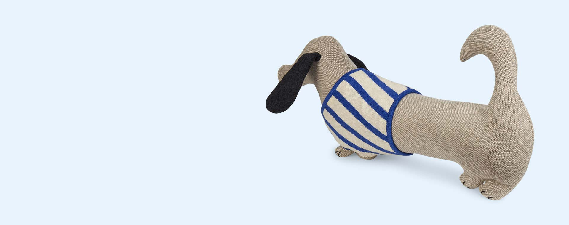 Blue OYOY Slinkii Dog Cushion
