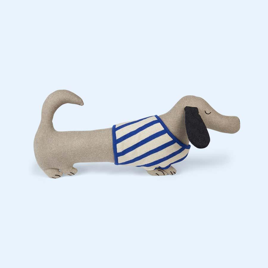 Blue OYOY Slinkii Dog Cushion
