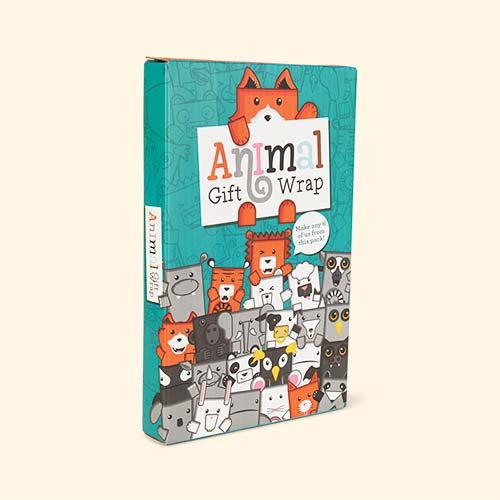 Orange Luckies of London Animal Gift Wrap Set