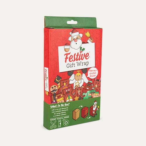 Red Luckies of London Festive Gift Wrap Set