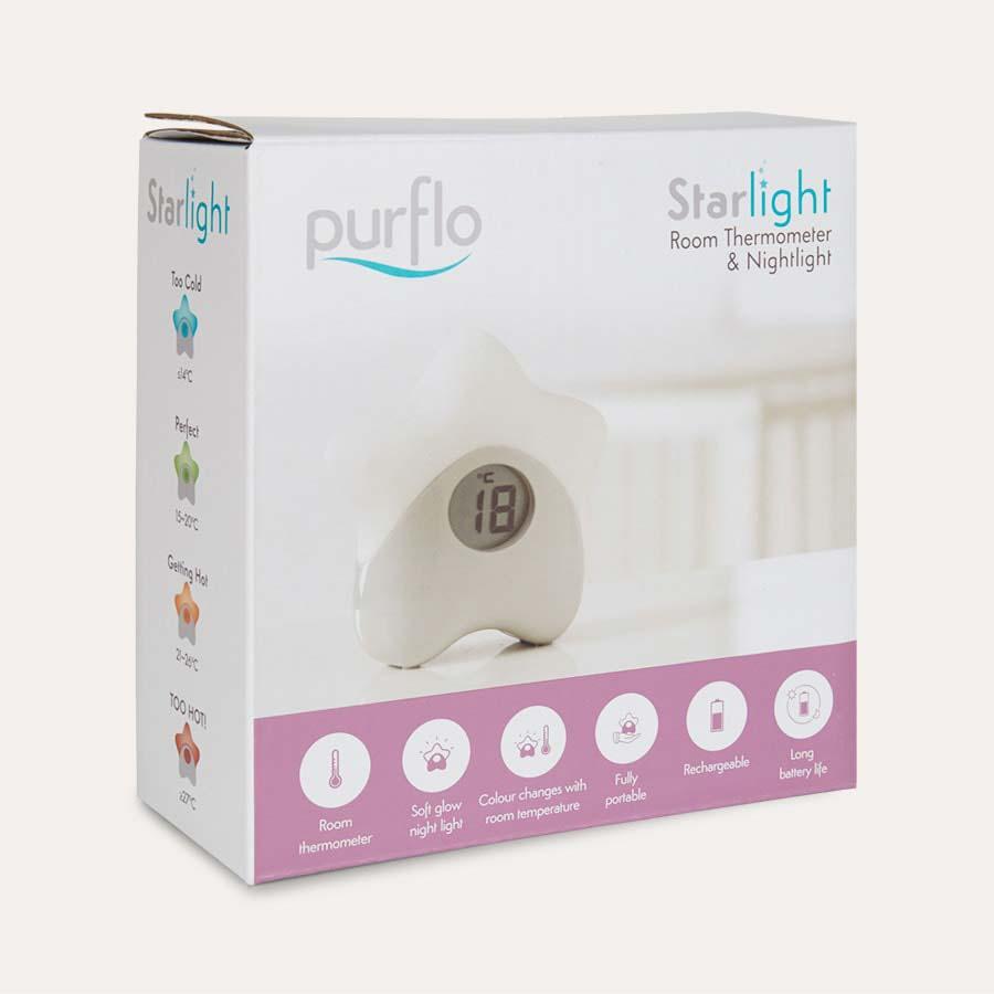 White PurFlo Starlight Room Thermometer