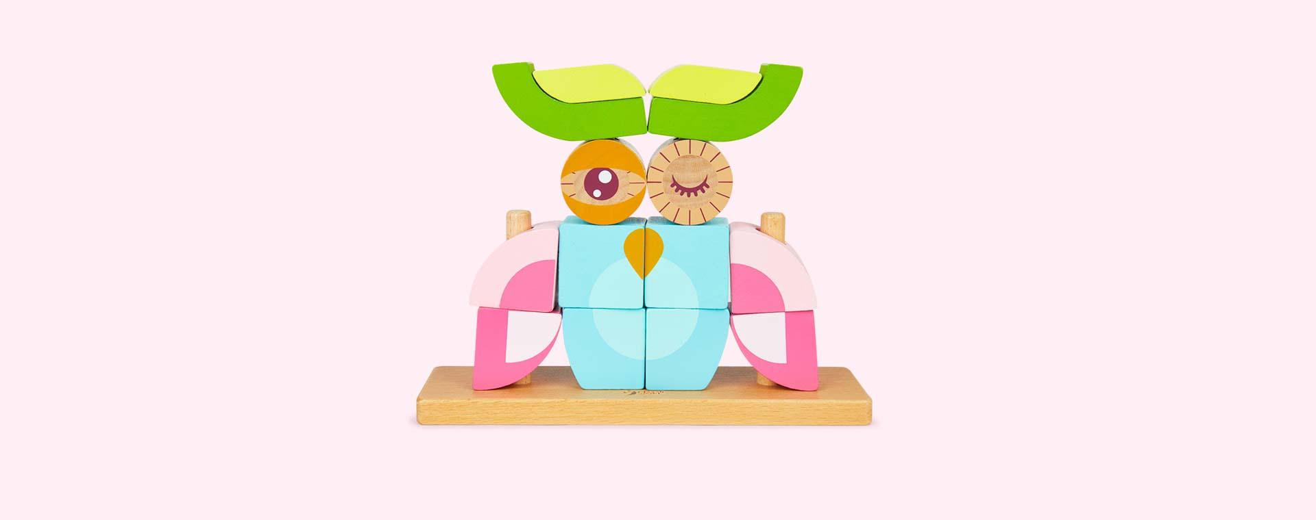 Multi Classic World Owl Block Set