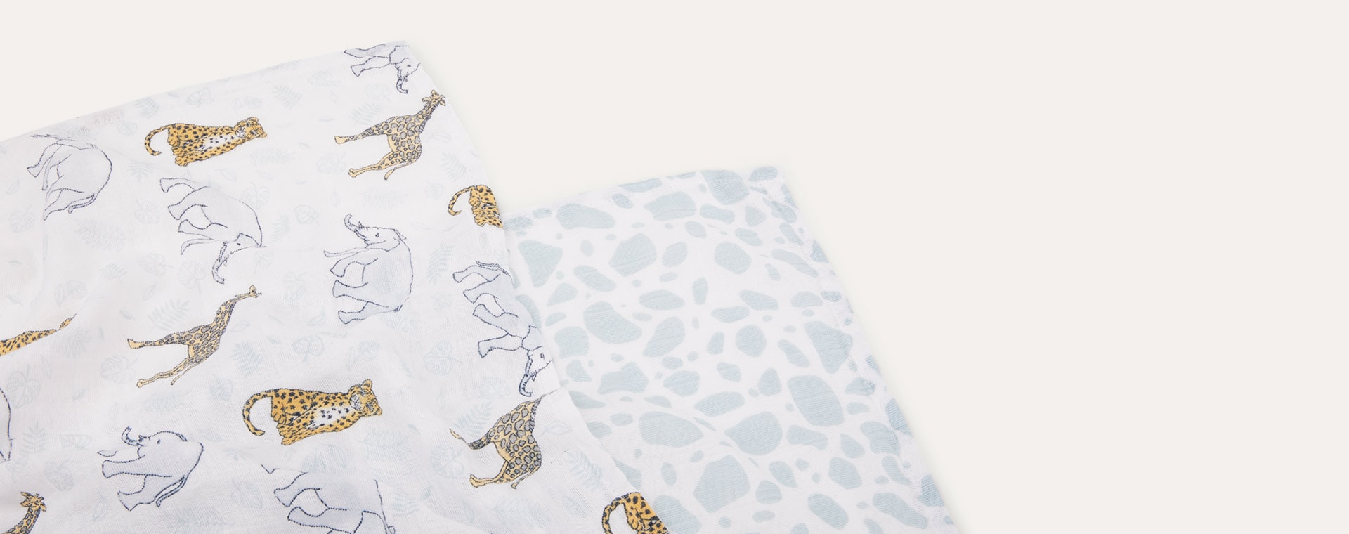 Jungle aden + anais 2 Pack Classic Swaddle Blanket