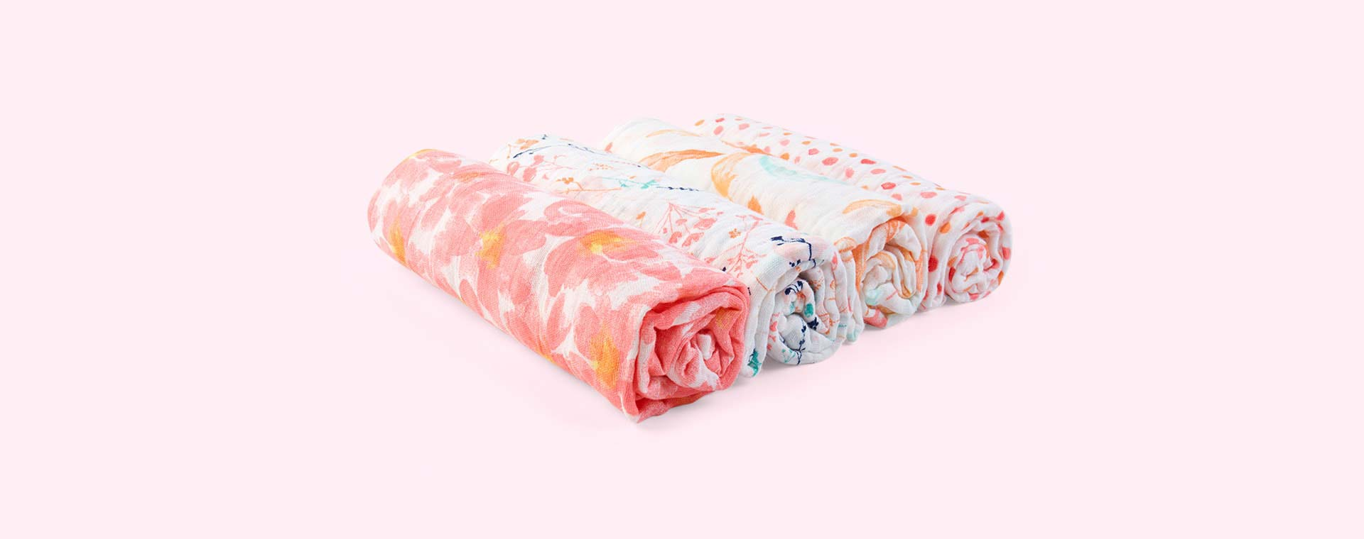 Petal Bloom aden + anais 4 Pack Classic Swaddle Blanket