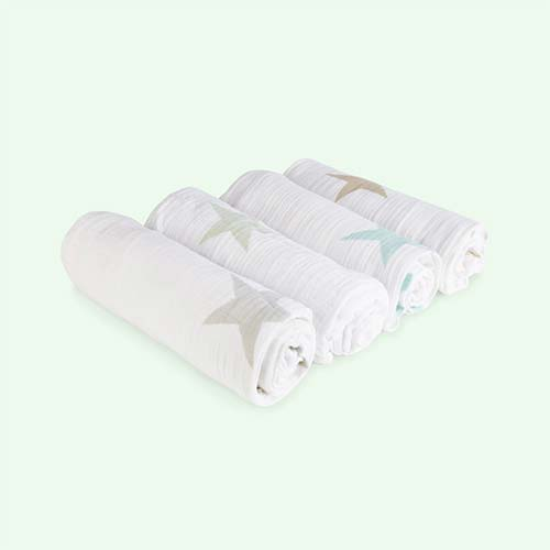 Super Star Scout aden + anais 4 Pack Classic Swaddle Blanket