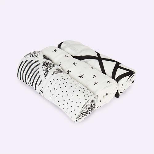 Midnight aden + anais Bamboo Swaddle Blankets - 3 Pack