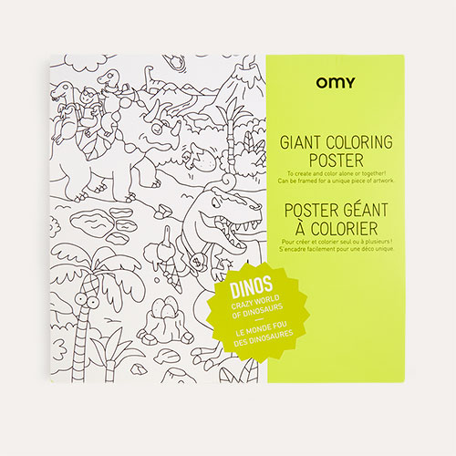 Dino OMY DESIGN & PLAY Colouring Poster