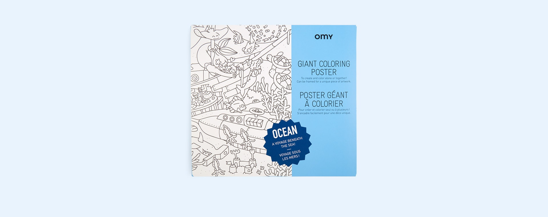 Ocean OMY DESIGN & PLAY Colouring Poster
