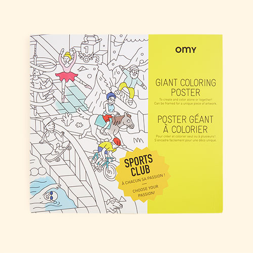 Sports Club OMY DESIGN & PLAY Colouring Poster