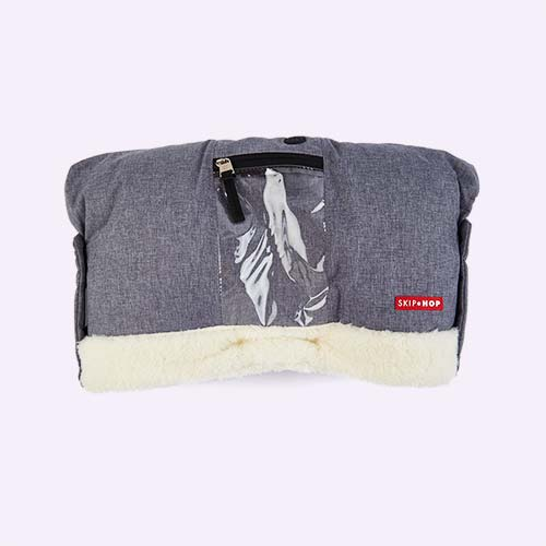 Heather Grey Skip Hop Stroll and Go On-Call Hand Muff