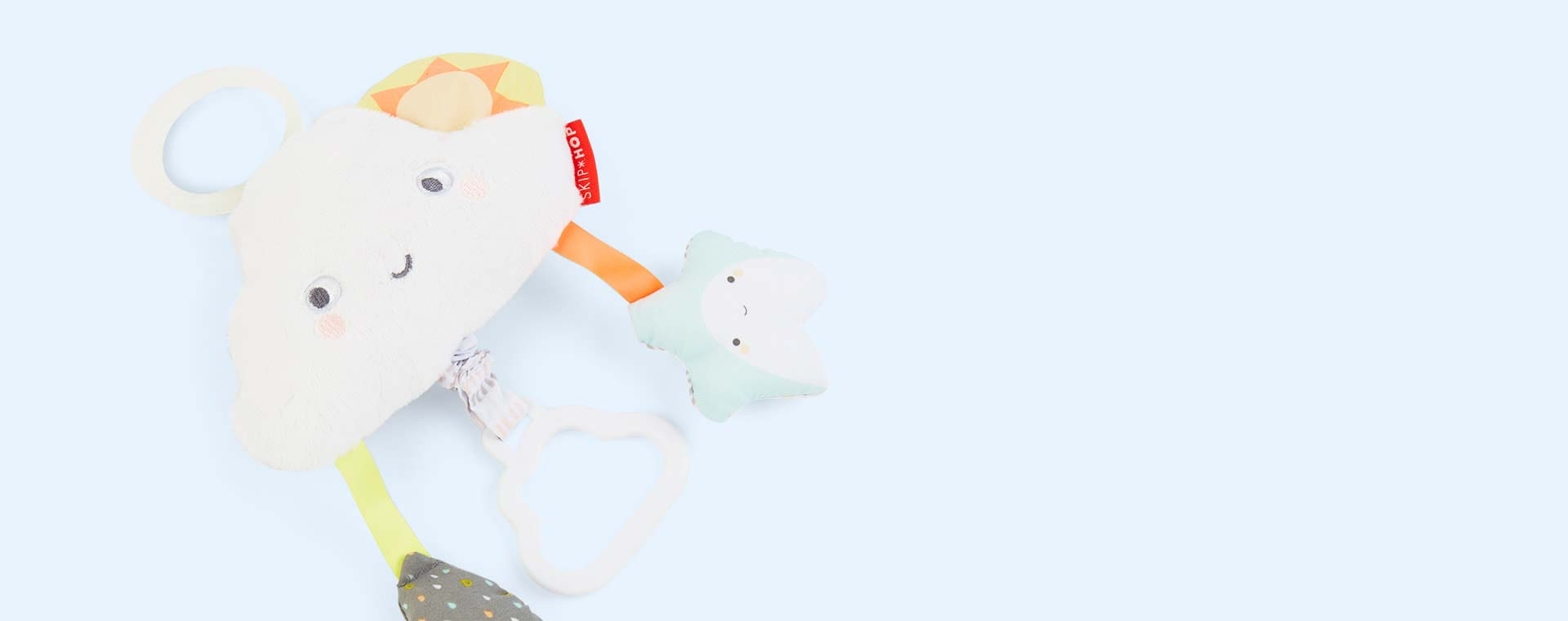 Cloud Skip Hop Silver Lining Cloud Jitter Stroller Baby Toy