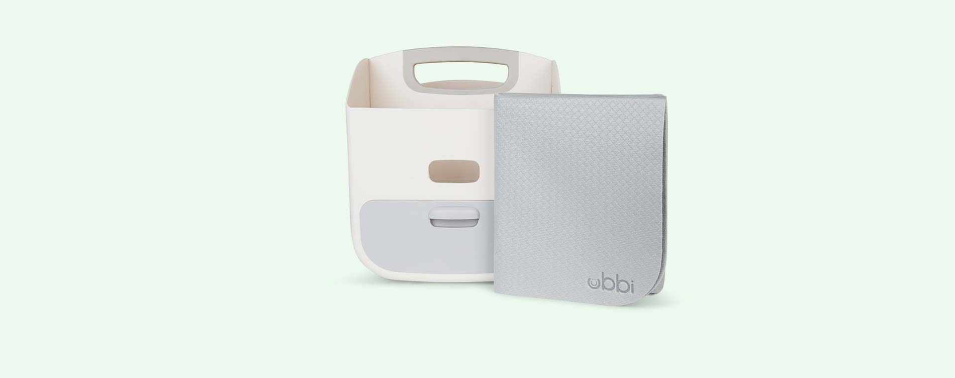 Grey ubbi Nappy Caddy