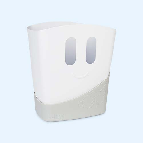 Grey ubbi Bath Toy Drying Bin