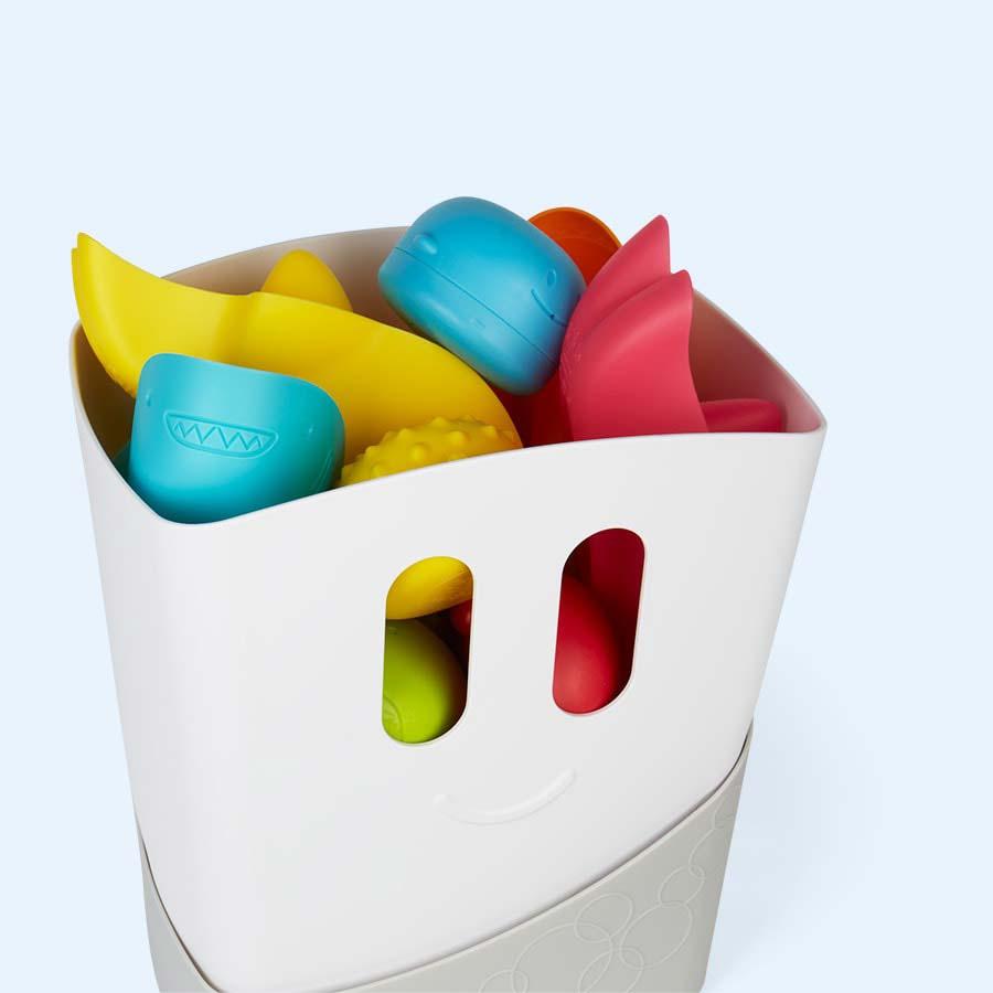 Grey ubbi Bath Toy Drying Bin