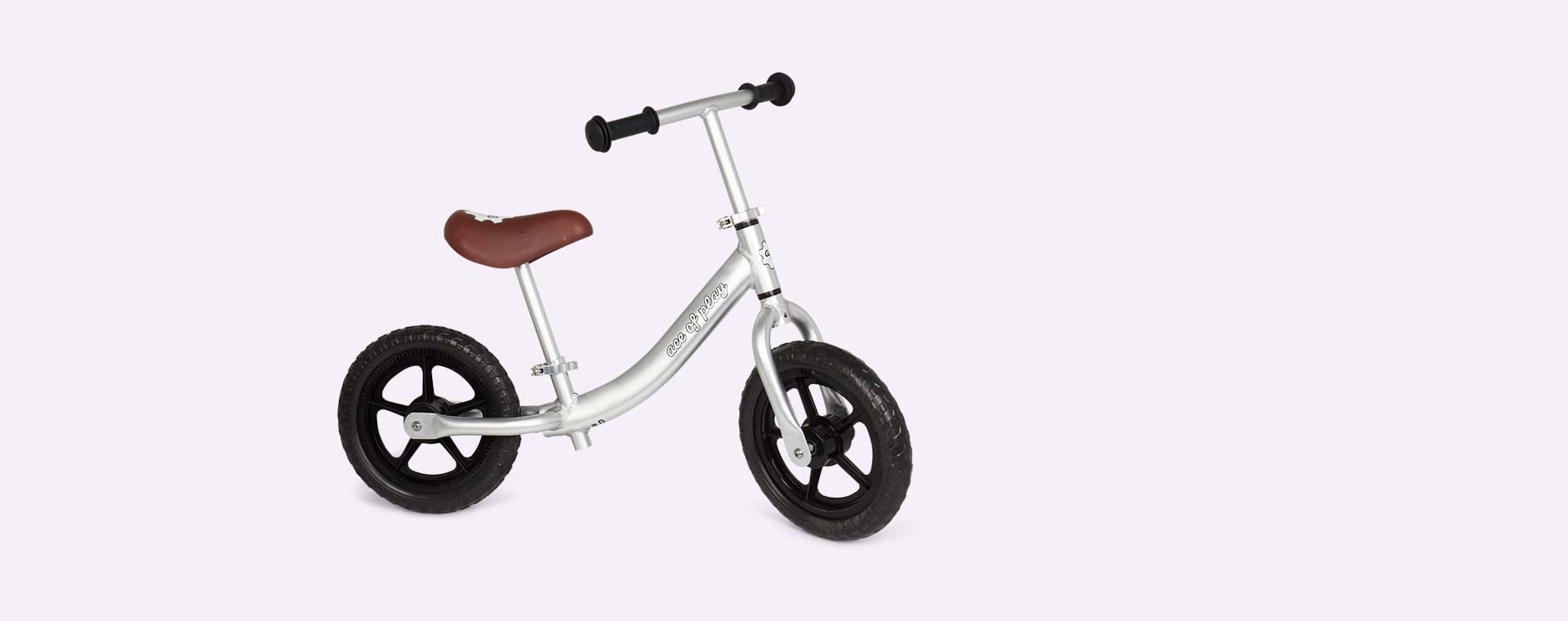 Anodised Silver Ace Of Play Balance Bike
