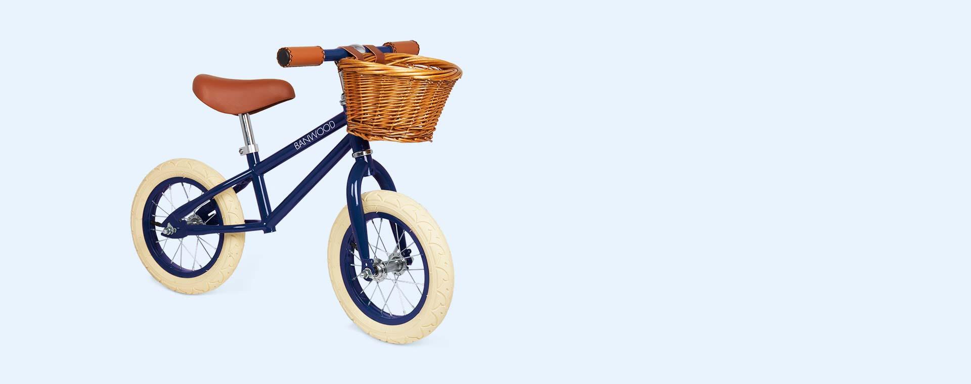 Navy Blue Banwood First Go Balance Bike