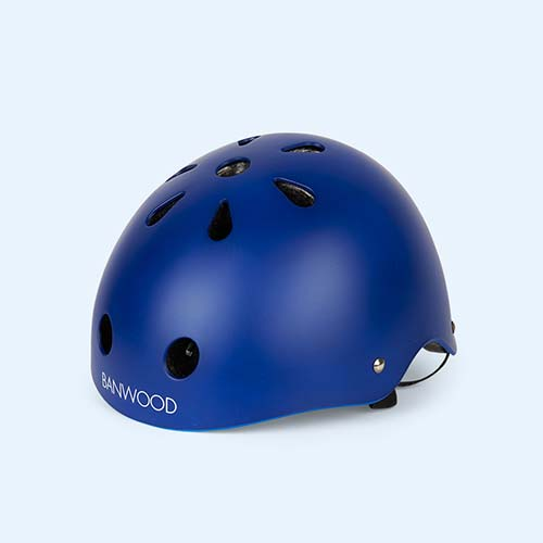 Navy Blue Banwood Classic Kids Bike Helmet