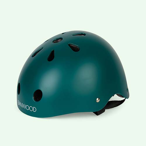 Dark Green Banwood Classic Kids Bike Helmet