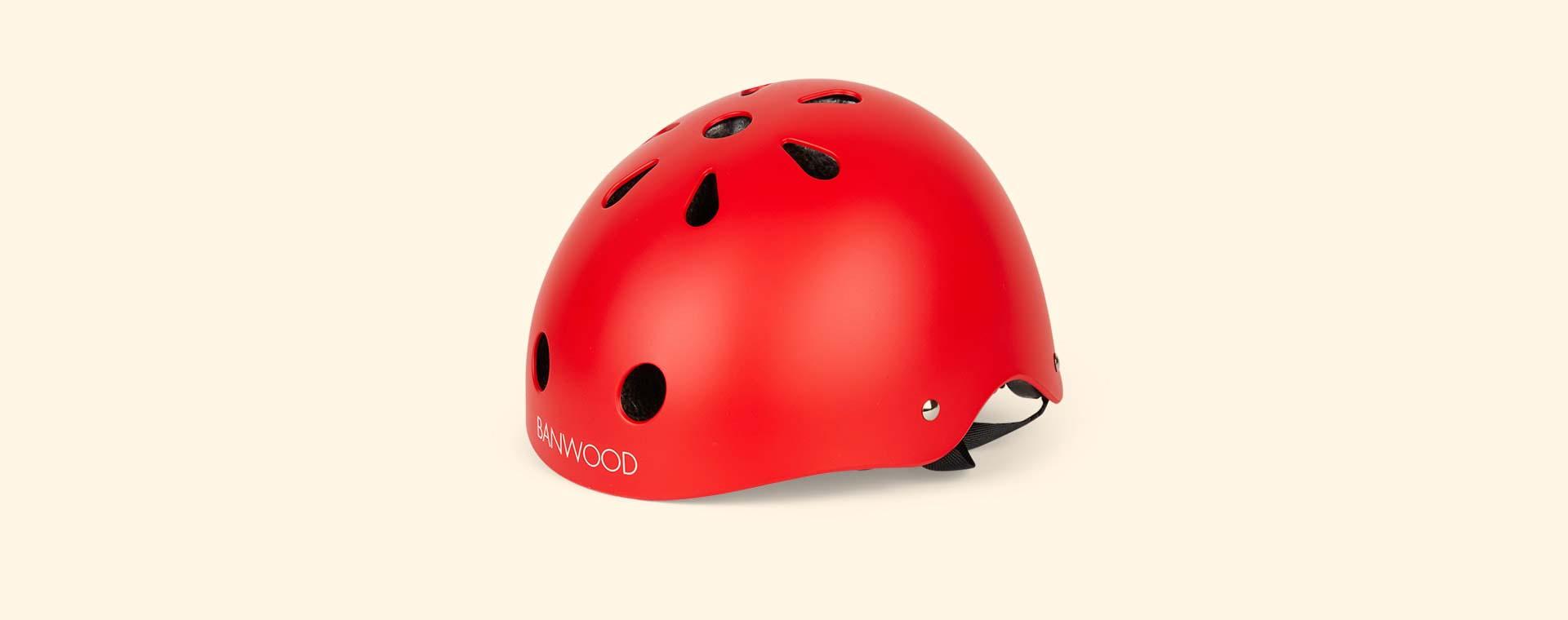 Red Banwood Classic Kids Bike Helmet