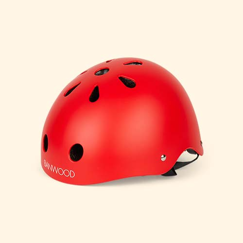 Red Banwood Classic Kids Bike Helmet