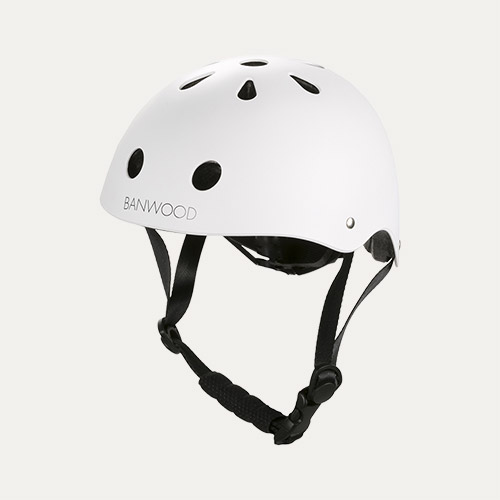 White Banwood Classic Kids Bike Helmet