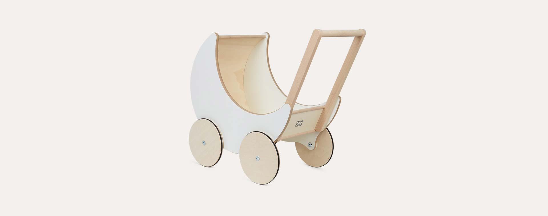 White Ooh Noo Toy Pram