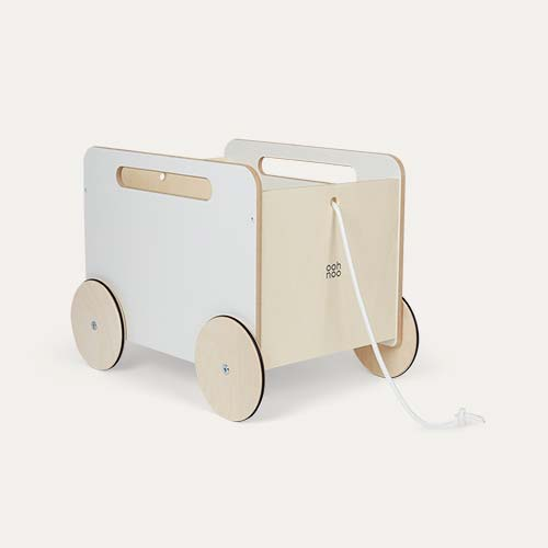 White Ooh Noo Toy Chest on Wheels