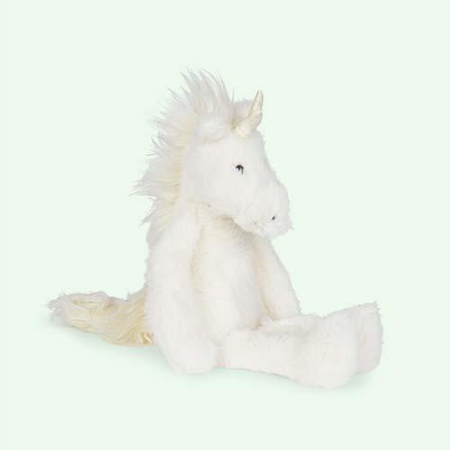 White Jellycat Medium Sweetie Unicorn