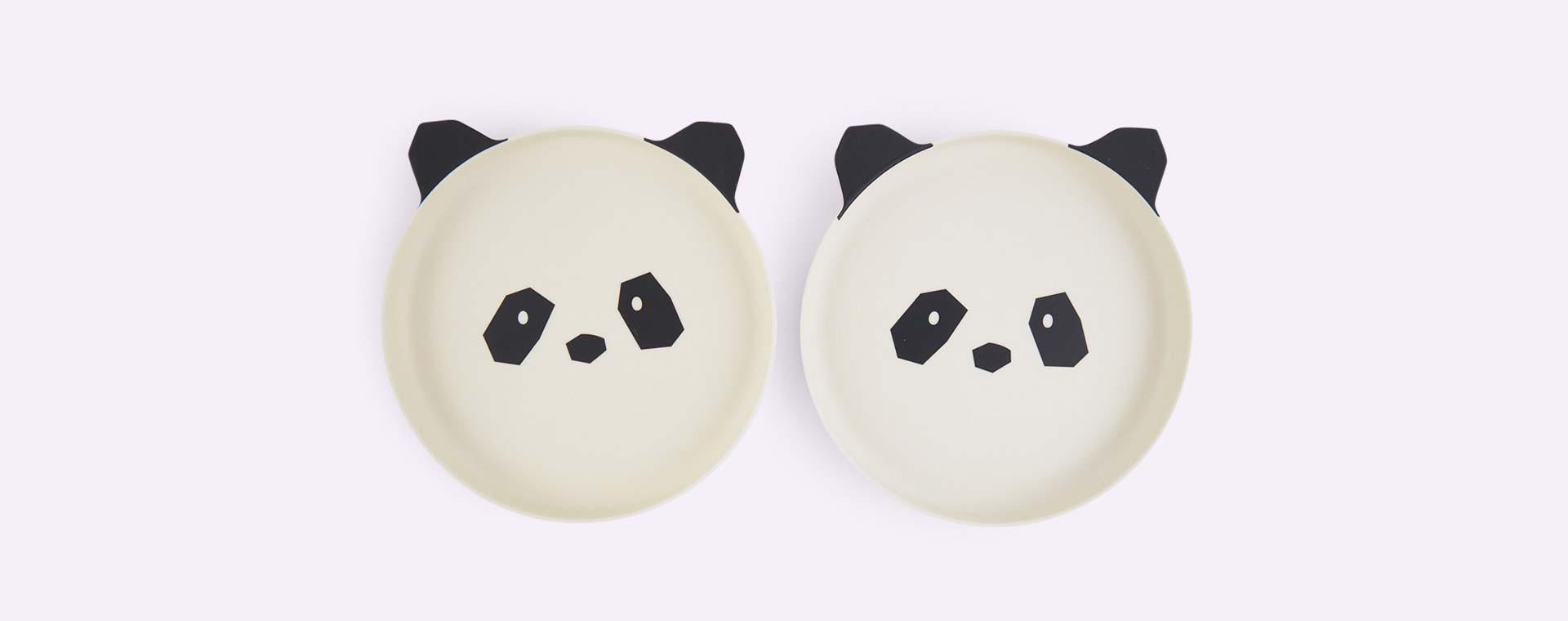 Panda Liewood Bamboo Plates - 2 Pack