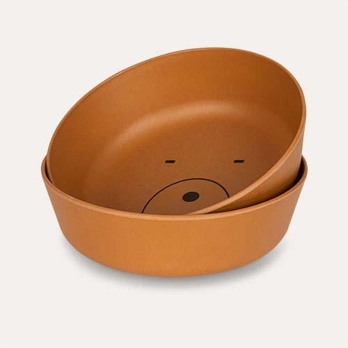 Mr Bear Mustard Liewood Bamboo Bowls - 2 pack