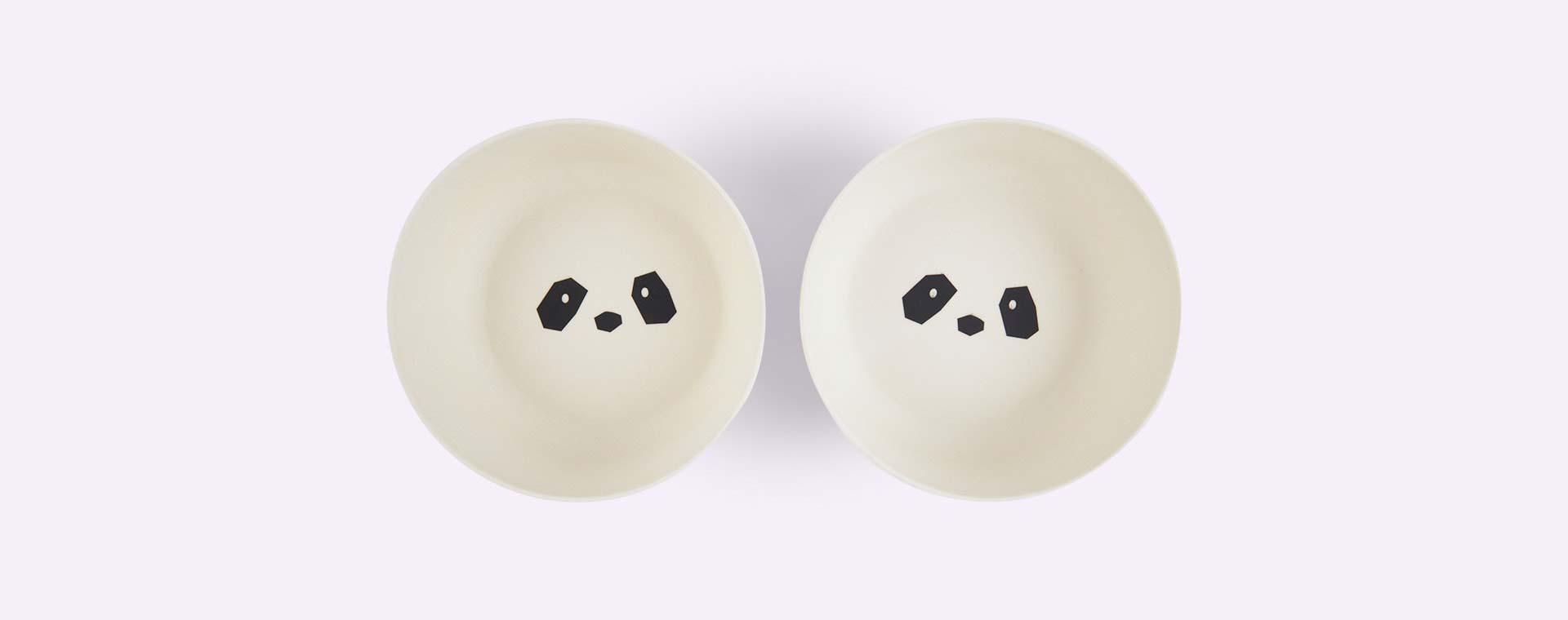 Panda Liewood Bamboo Bowls - 2 pack